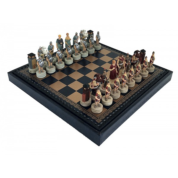 Italfama ιστορικό σέτ με θέμα 'Ελληνες vs Ρωμαίων και σκακιέρα πλακέτα