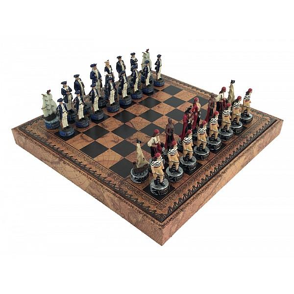 Italfama ιστορικό σέτ με θέμα Pirates και σκακιέρα πλακέτα με θήκη αποθήκευσης
