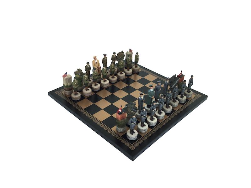 Italfama ιστορικό σέτ με θέμα World war II και σκακιέρα πλακέτα