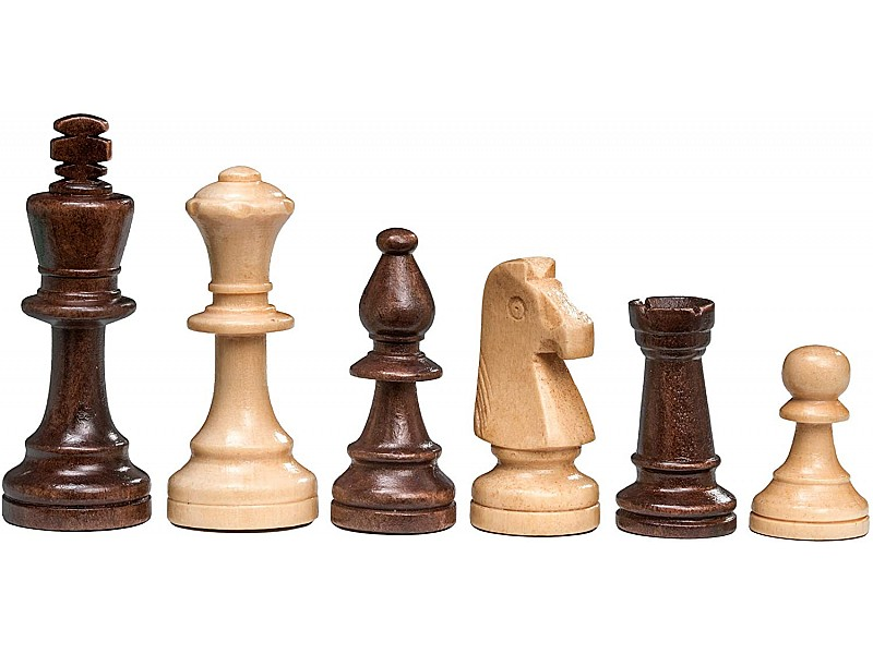 Σκακιέρα ξύλινη σπαστη 47.5 Χ 23.5 εκ. με ύψος βασιλιά 9 εκ.