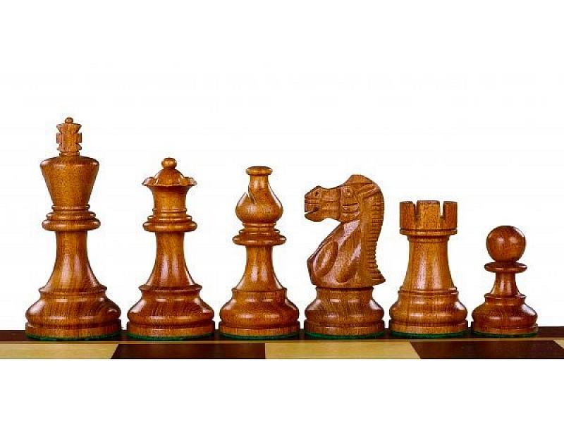Σκακιέρα ξύλινη 50 Χ 50 εκ. & Ξύλινα πιόνια αμερικάνικα staunton με ύψος βασιλιά 9.5 εκ & πουγκί φύλαξης