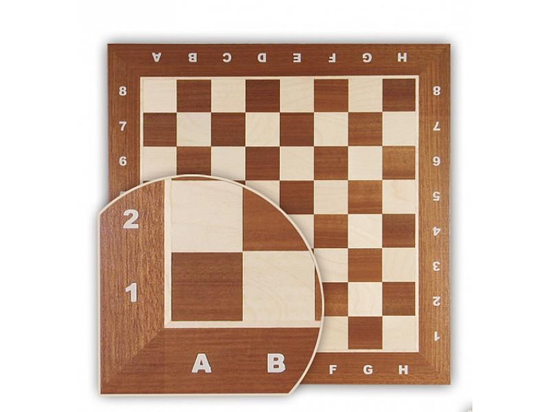 Σκακιέρα μαόνι  σε πλακέτα  Ch31 (με συντεταγμένες)