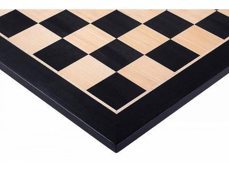 Σκακιέρα ξύλινη μαύρη  πλακέτα  Giant deluxe (60 Χ 60 εκ. - 6.4 εκ.καρέ) χωρίς συντεταγμένες