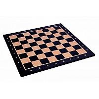 Σκακιέρα ξύλινη μαύρη  πλακέτα  Giant deluxe (60 Χ 60 εκ. - 6.4 εκ.καρέ) με συντεταγμένες