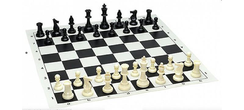 Σκάκι βινιλίου και πιόνια