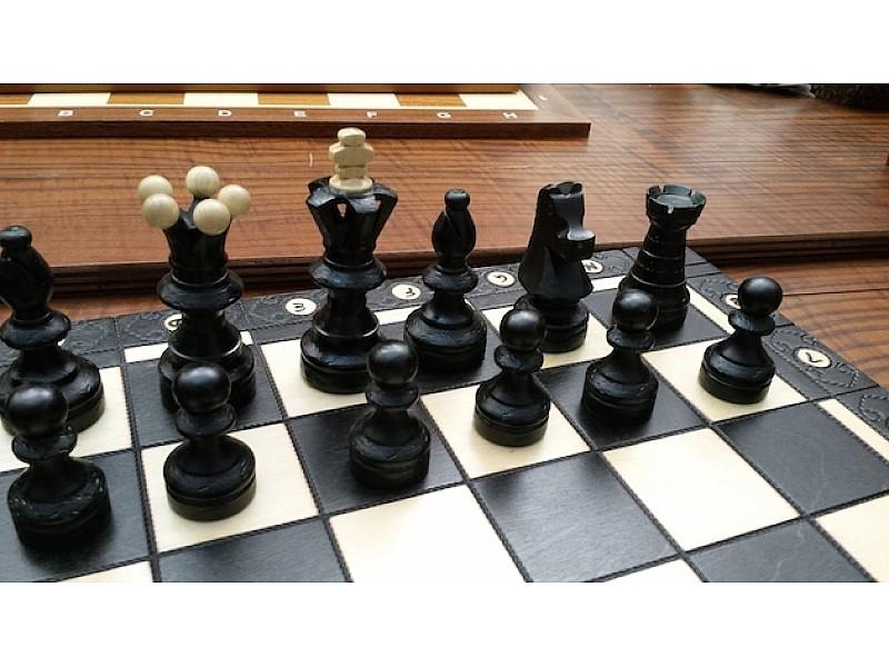 Σκακιέρα Νο CH128R Ambassador Black edition