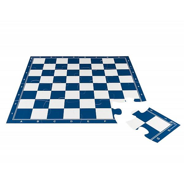 Σκακιέρα παζλ 16 τεμαχίων με διάσταση 50 Χ 50 εκ. - Χρώμα:μπλέ