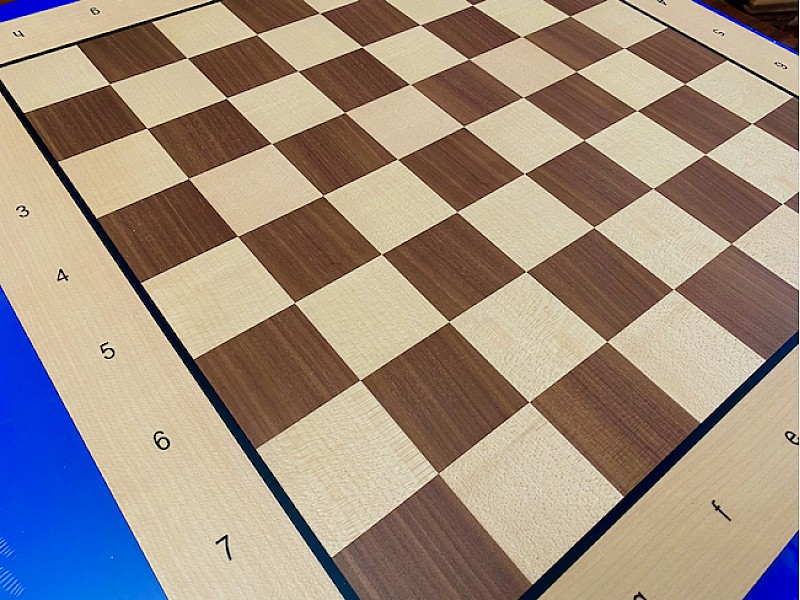 Σκακιέρα ξύλινη Belgrad 50 Χ 50 εκ. (με συντεταγμένες) + ΔΩΡΟ υφασμάτινη τσάντα μεταφοράς