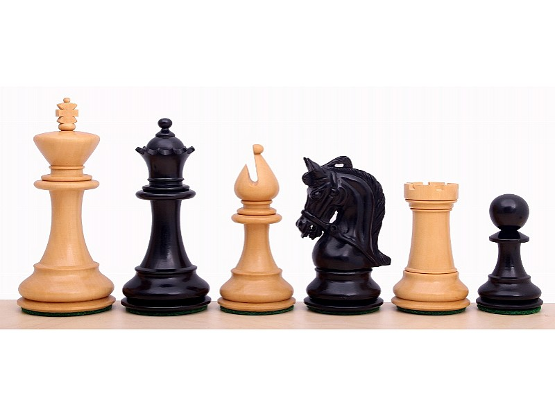 Corinthian Ebonized σέτ πιόνια για σκάκι με βάρος (ύψος βασιλιά 9.5 εκ.)