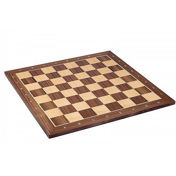 Σκακιέρα ξύλινη καρυδιά πλακέτα 50 Χ 50 εκ.  (με συντεταγμένες)