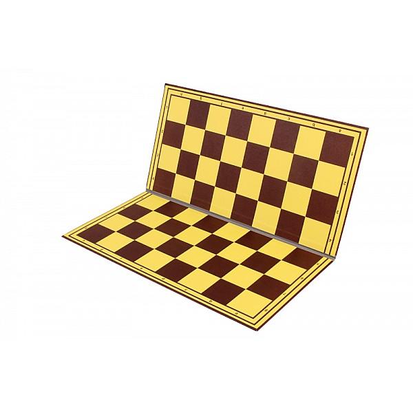 Σπαστή σκακιέρα κίτρινη-καφέ deluxe