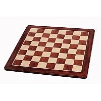 Σκακιέρα ξύλινη μαόνι πλακέτα με οβάλ γωνιές (χωρίς συντεταγμένες) - διάσταση τετραγώνου 5.1 εκ.