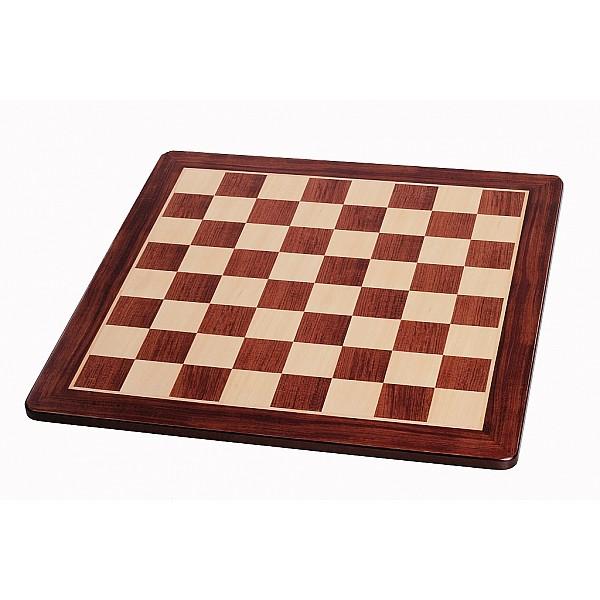 Σκακιέρα ξύλινη τριανταφυλλιά πλακέτα με οβάλ γωνιές (χωρίς συντεταγμένες) - διάσταση τετραγώνου 5.8 εκ.