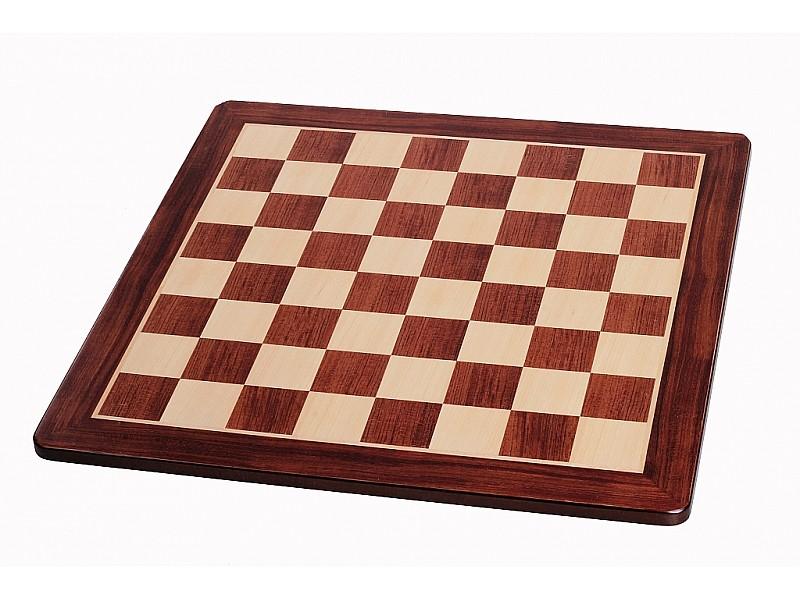 Σκακιέρα ξύλινη τριανταφυλλιά πλακέτα με οβάλ γωνιές (χωρίς συντεταγμένες) - διάσταση τετραγώνου 5.1 εκ.