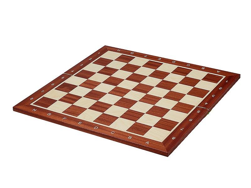 Σκακιέρα ξύλινη σε σπαστή πλακέτα αγωνιστική No CTX 41 με συντεταγμένες