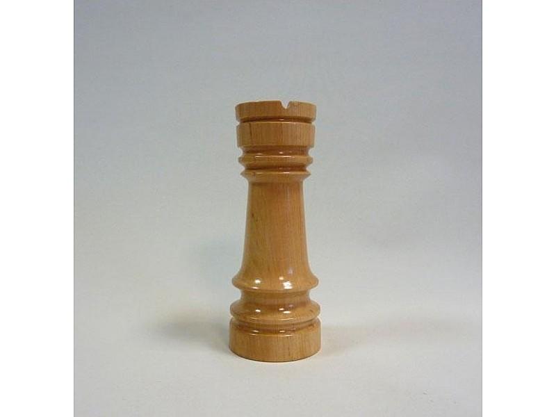 Διακοσμητικό σκάκι - Ξύλινος πύργος (ανοιχτό χρώμα)