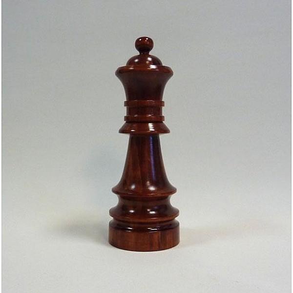 Διακοσμητικό σκάκι - Ξύλινη Βασιλισα  (σκούρο χρώμα)