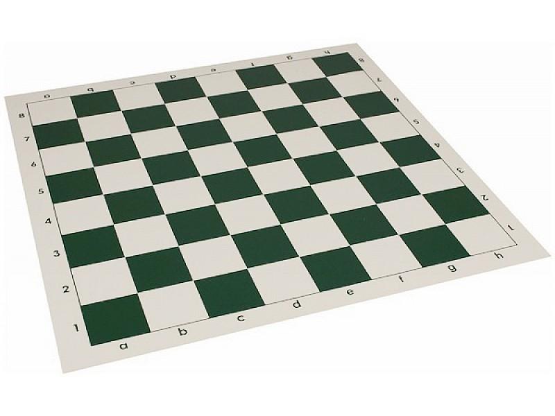 Σκακιέρα βινυλίου  50 Χ 50 μαζί με πλαστικά πιόνια (χωρίς βάρος) με ύψος βασιλιά 9.5 εκ. - 10 σέτ