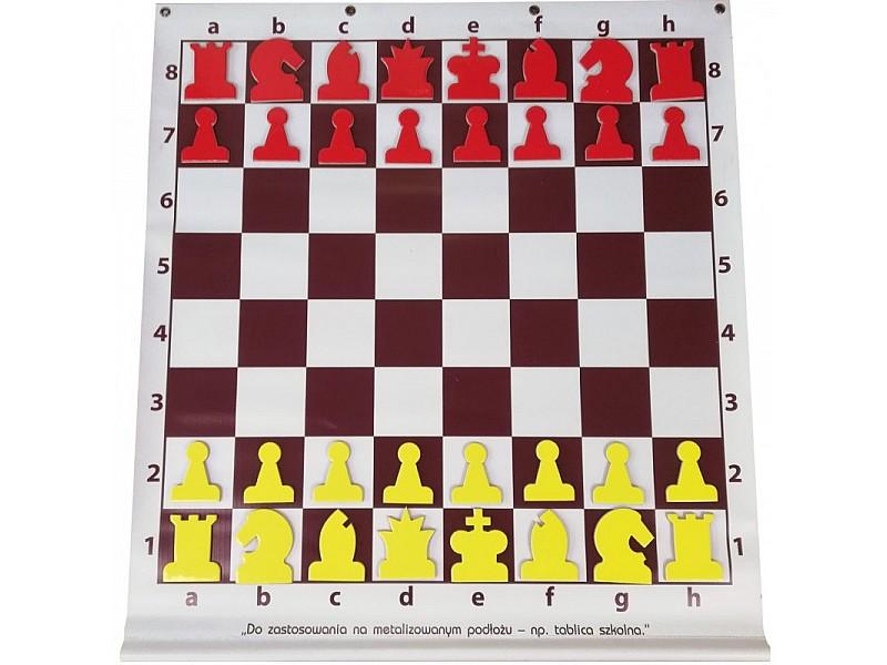 Εκπαιδευτική σκακιέρα  64 Χ 58 εκ. σε εκρού - καφέ  για μεταλλική επιφάνεια