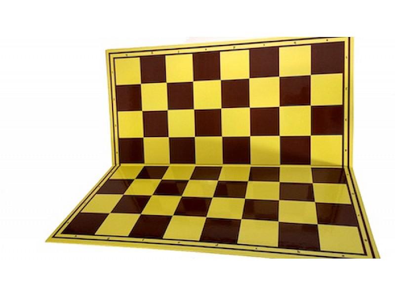 Σπαστή σκακιέρα κίτρινη-καφέ