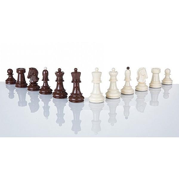 Πλαστικα πιόνια για σκάκι Dubrovnik - 'Υψος 8.2 εκ. & 2 πουγκιά αποθήκευσης