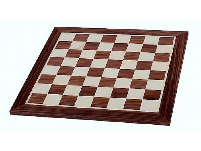 Σκακιέρα ξύλινη σε πλακέτα καρυδιά Giant deluxe  (60 X 60 εκ. - 6.4 εκ. καρέ)