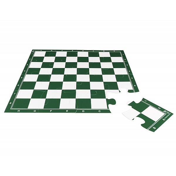 Σκακιέρα παζλ 16 τεμαχίων με διάσταση 50 Χ 50 εκ. - Χρώμα: πράσινη