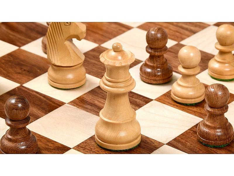 Σκακιέρα ξύλινη 45 Χ 45 εκ. & Ξύλινα πιόνια German staunton με ύψος βασιλια 9.5 εκ. & πουγκί φύλαξης