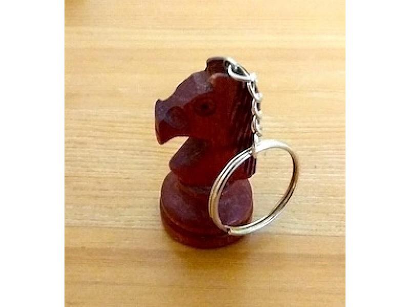 Μπρελόκ ξύλινο άλογο σκούρο