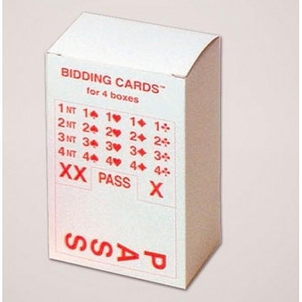 Κάρτες reffil για bidding boxes