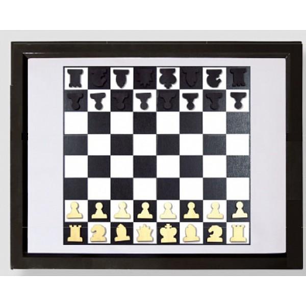 Διαδραστική κορνίζα σκακιέρα τοίχου για σαλόνι - δωμάτιο  με μαγνητικά πιόνια 37 Χ 29 εκ.