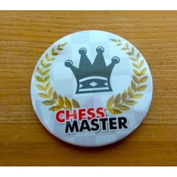 """Καρφίτσα τάπα  με θέμα """"Chess master"""""""