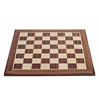 Σκακιέρα ξύλινη σε πλακέτα καρυδιά 55 Χ 55 εκ (χωρίς συντεγμένες)