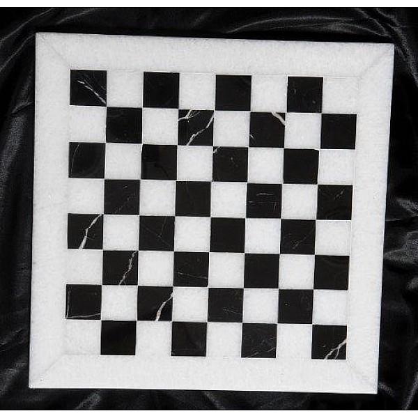 Nero Marguina μαρμάρινη σκακιέρα  Διάσταση 40 X 40 εκ.