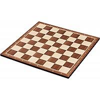 Σκακιέρα ξύλινη καρυδιά πλακέτα 50 Χ 50 εκ. - 4.5 εκ καρέ  (με συντεταγμένες) + ΔΩΡΟ υφασμάτινη τσάντα μεταφοράς