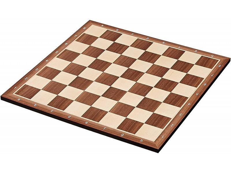 Σκακιέρα ξύλινη καρυδιά πλακέτα 45 Χ 45 εκ. - 5 εκ καρέ  (με συντεταγμένες)