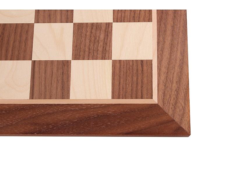 Σκακιέρα ξύλινη καρυδιά πλακέτα 50 Χ 50 εκ.  (χωρίς συντεταγμένες)