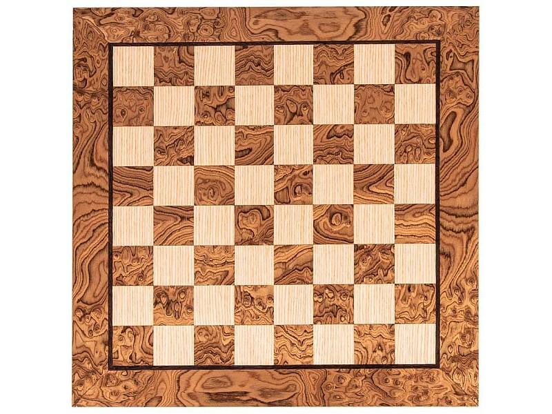 Σκακιέρα ξύλινη Burl oak  πλακέτα  50 Χ 50 εκ. ( χωρίς συντεταγμένες)