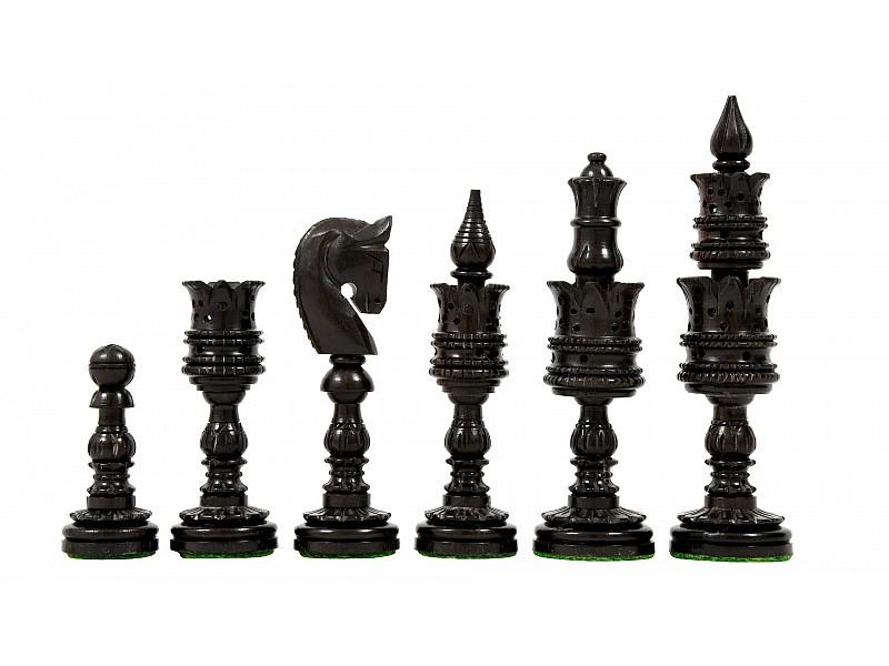 Ξύλινα πιόνια  Lotus με ύψος βασιλιά  12 εκ.