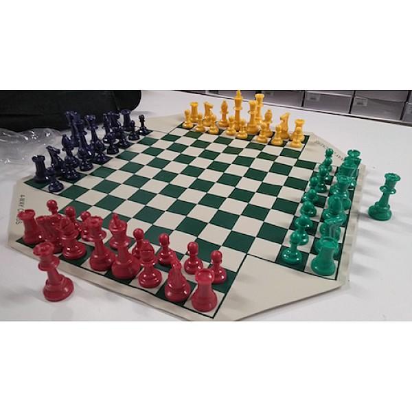 Σκάκι για 4 παίκτες βινιλίου με θήκη βινυλίου