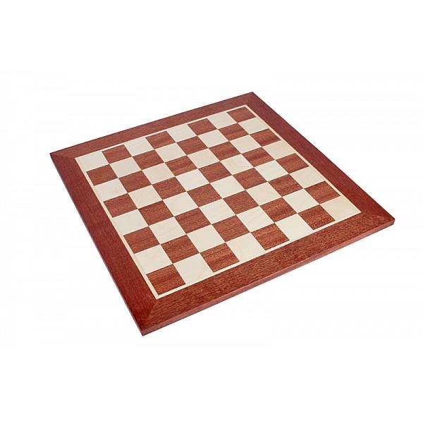 Σκακιέρα ξύλινη μαόνι πλακέτα  55 Χ 55 εκ. (Χωρις συντεταγμένες)