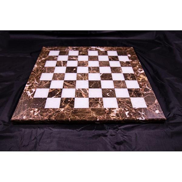 Emperador Dark & Assiana μαρμάρινη σκακιέρα  Διάσταση 40 X 40 εκ.