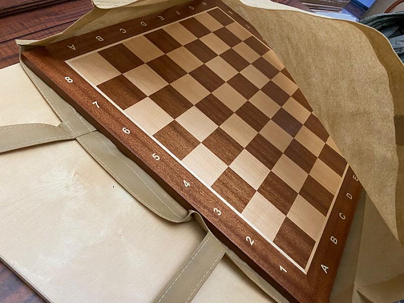 Yφασμάτινη γαζωτή τσάντα μεταφοράς για σκακιέρες πλακέτες και αξεσουάρ 55 Χ 50 εκ. Χρώμα: craft (καφέ)