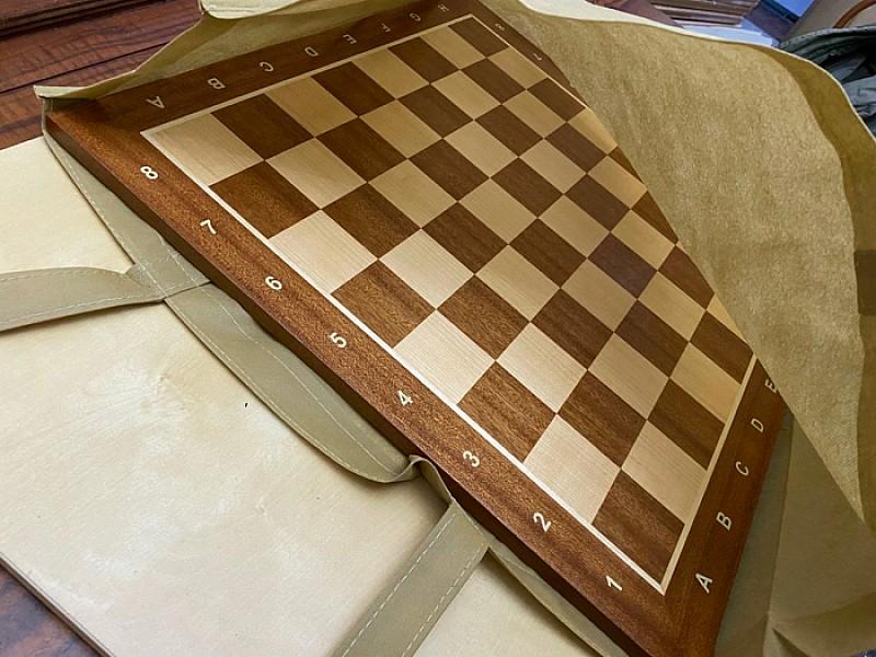 Yφασμάτινη γαζωτή τσάντα μεταφοράς για σκακιέρες πλακέτες και αξεσουάρ 55 Χ 50 εκ. Χρώμα: Γκρί