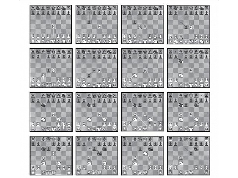 Chess opening traps in pictures move by move