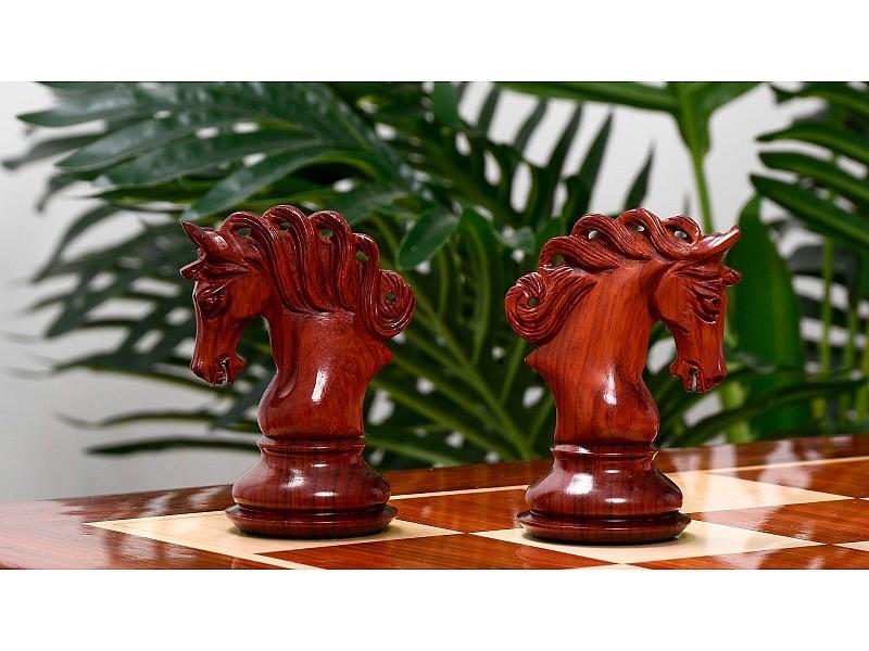 Ξύλινα πιόνια Pegasus (padauk - boxwood)  με ύψος βασιλιά  11.6 εκ.