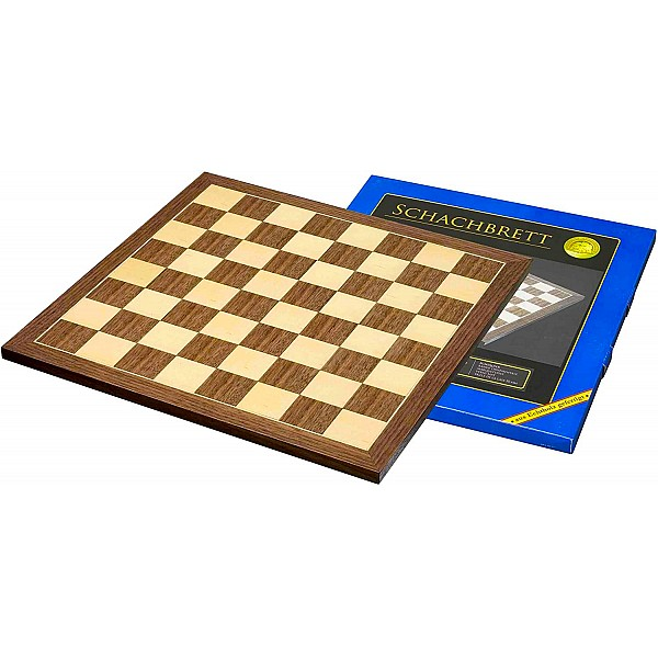 Σκακιέρα ξύλινη καρυδιά πλακέτα 50 Χ 50 εκ. - 4.5 εκ καρέ  (χωρίς συντεταγμένες)