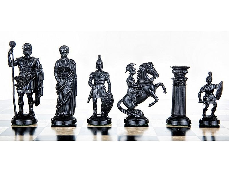 Ρωμαικό πλαστικό σέτ για σκάκι με ύψος βασιλιά 9.5 εκ.
