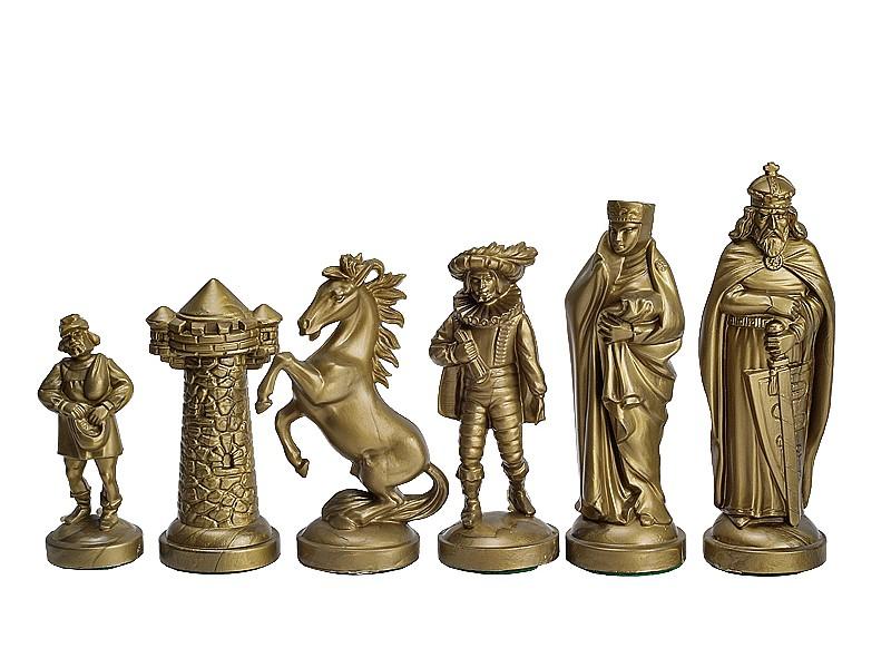 Μεσαίωνας πλαστικό σέτ για σκάκι με ύψος βασιλιά 9.5 εκ.