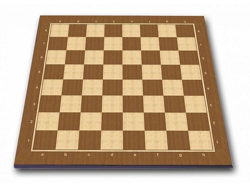 Σκακιέρα πλακέτα τυπωμένη Brown strip με συντεταγμένες 50 Χ 50 εκ. - Mε διάσταση τετραγώνου 5 εκ.